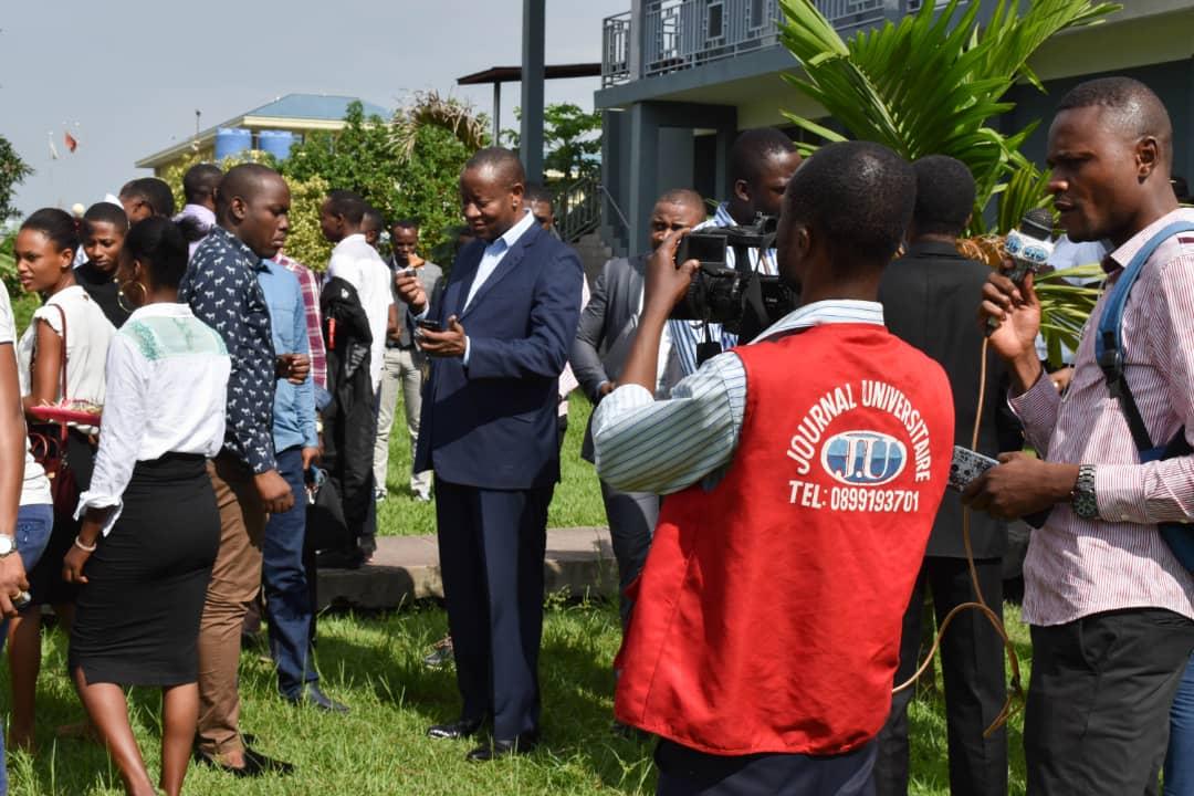Accueil des nouveaux du Centre Congolais Allemand de microfinance
